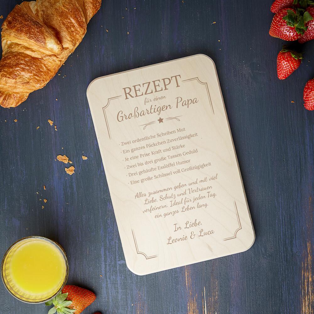 Frühstücksbrett für Papa - Rezept - Personalisiert