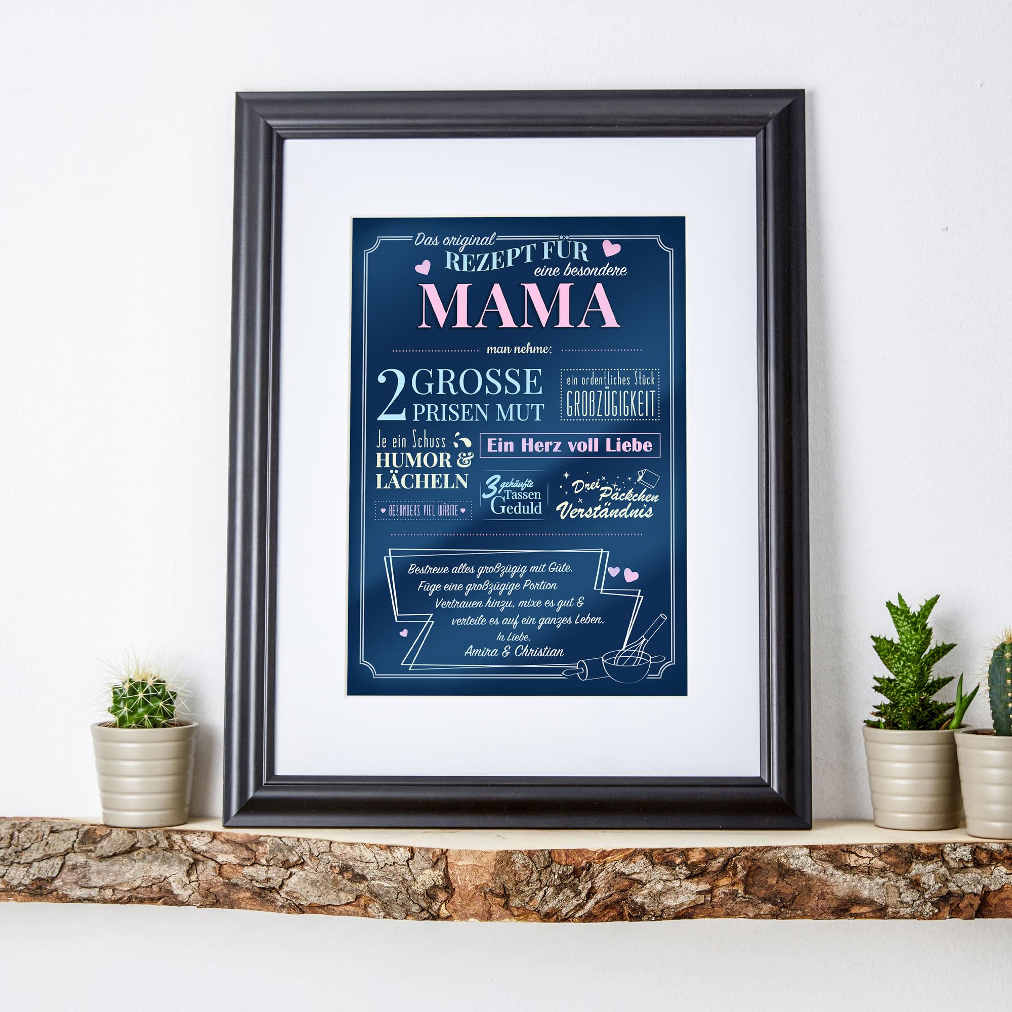 Personalisiertes Wandbild - Rezept für eine besondere Mama