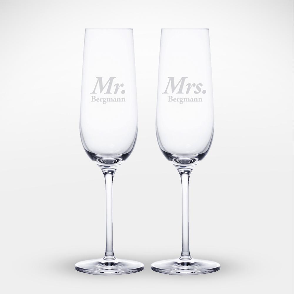 Sektgläser mit Gravur - Mr & Mrs - Personalisiert