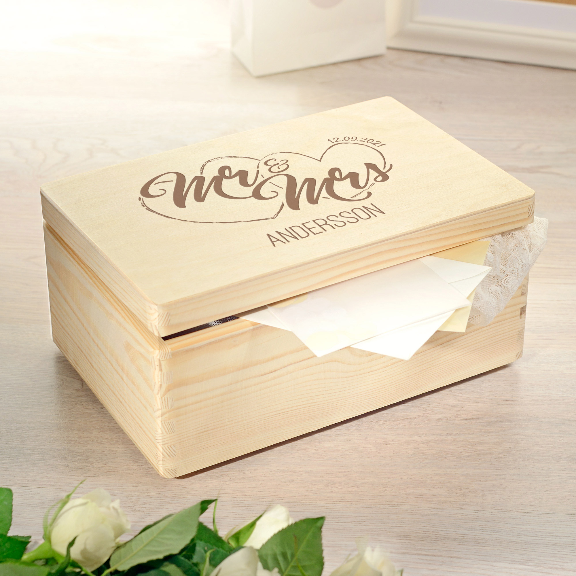 Keepsake Box - Mr und Mrs - Personalisiert