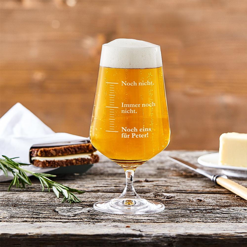 Bierglas mit Gravur Masseinheiten - Pilsglas