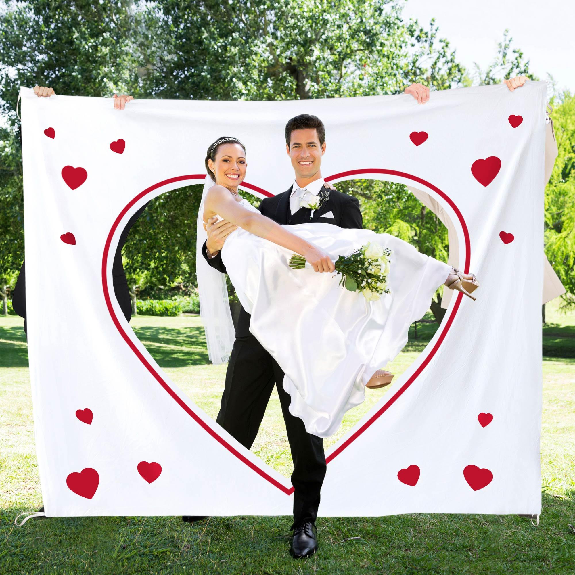 Hochzeitslaken mit romantischem Motiv Wortherz