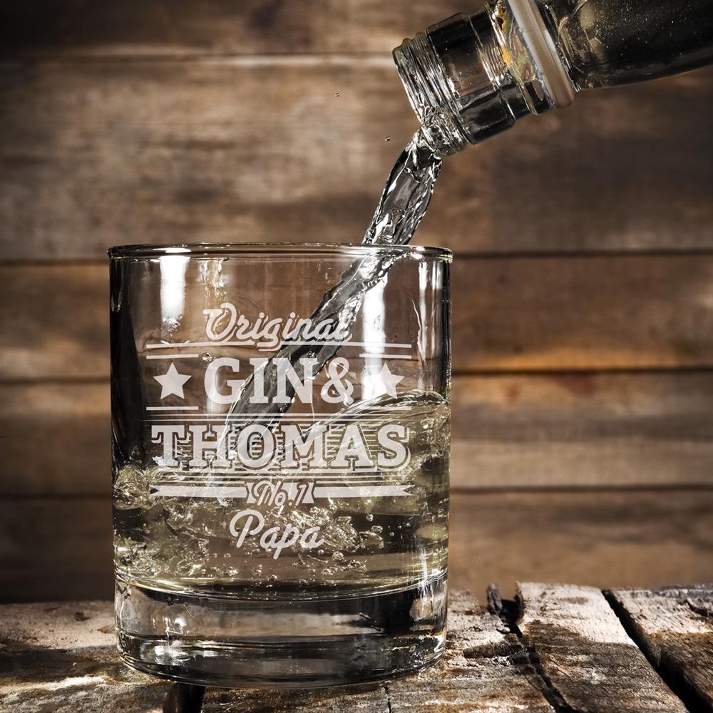 Ginglas Tumbler mit Gravur für Vater - Gin und - Standard
