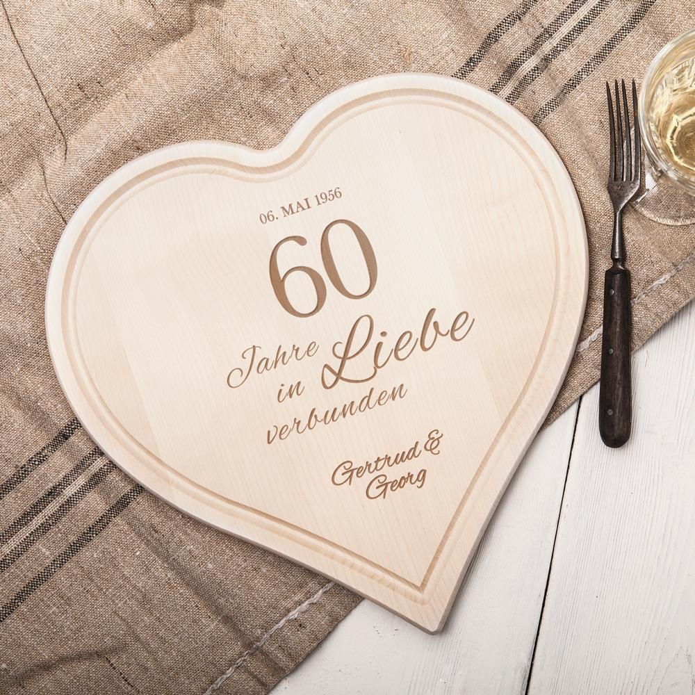 diamantene hochzeit geschenk  60 jahre liebe edle