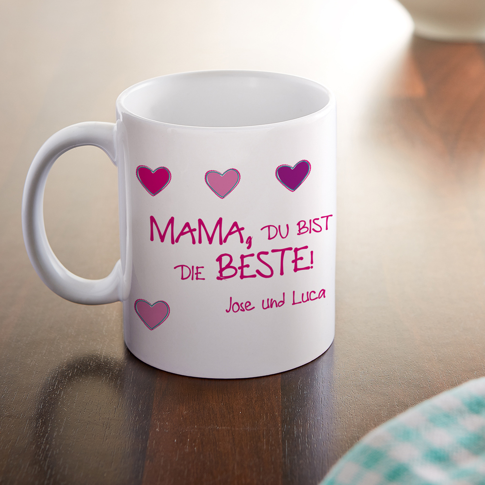 Bedruckte Tasse - Fototasse - Die beste Mama - Personalisiert