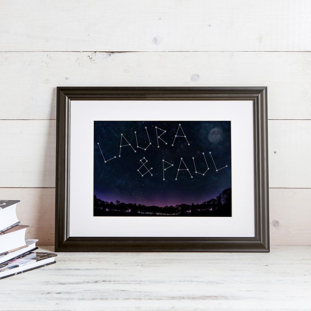 Sternenbild - Ihre Namen auf dem Bild