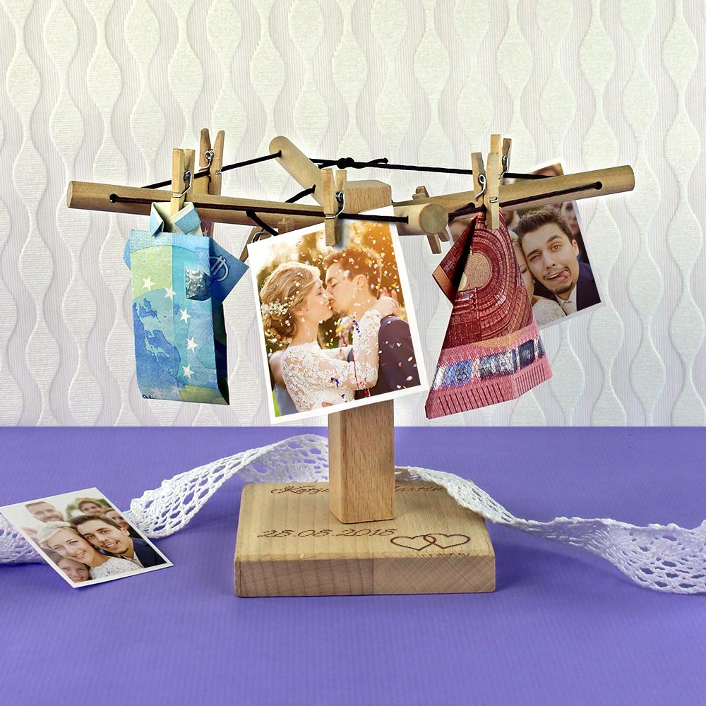 Geld Wäschespinne zur Hochzeit